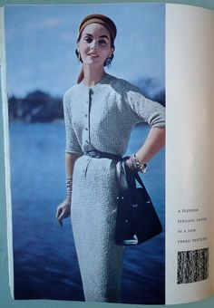 VOGUE Knitting Book No 47 1955 - vintage 1950s knitting patterns - 50s women's sweaters cardigans jackets dress crochet stole designer knits