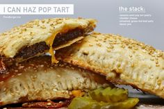 PopTart Cheeseburger: Smashed grass-fed beef patty, with a bacon onion jam, melty cheddar cheese, in a buttery pop tart pastry  pornburger.me