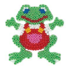 Hama strijkkralenbordje in de vorm van een kikker. Exclusief strijkkralen.Afmeting:12 x 12 cm - Hama Strijkkralenbordje - Kikker