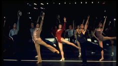 Robert Lupone and Donna McKechnie in A Chorus Line at the Shubert Theatre.