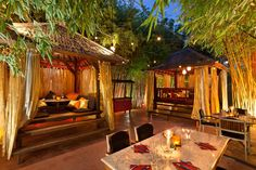 Bambuddha grove - Ibiza    By far the best restaurant in Ibiza. Incredible food, location, music and service.