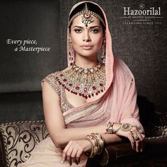#PricelessPolki -Perfection personified in this regal piece of art.  #HazoorilalBySandeepNarang #EveryPieceAMasterpiece #CampaignHazoorilal @egupta #UncutDiamonds #BridalLooks2016 #BridalJewellery #ItcMaurya #DlfEmporio #HazoorilalJewellersGK #Hazoorilal