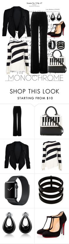 """""""Black & White"""" by cpearlz on Polyvore featuring Emilio Pucci, Les Petits Joueurs, Alexander McQueen, Repossi, Christian Louboutin, WorkWear, monochrome, blackandwhite and ladylikestyle"""