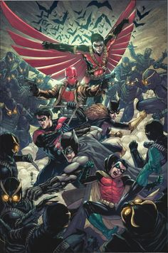 Bat Family vs Talons by Bryan Valenza
