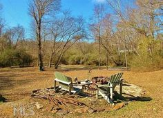 Flatrock Mill For Sale: Contact: jan.jones2011@yahoo.com.. The park-like setting at Flatrock Mill has many seating areas. This one is at the foundation for the mill that was once on the property. Indian wars were fought here!
