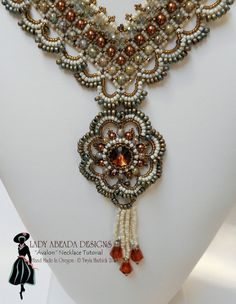 Beading Tutorial Instructions - Bead weaving Pattern Avalon Pendant Necklace PDF Format INSTANT DOWNLOAD  OVERVIEW  Avalon, according to Celtic