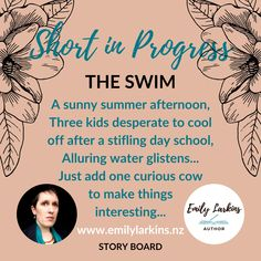 Short Contemporary Fiction Story - The Swim - by Emily Larkins. See the inspiration for Emily's short story before it's published. Comedy Stories, Fiction Stories, Funny Stories, Short Stories, Thirty Four, Summer Story, Cute Cows, Quick Reads, Three Kids