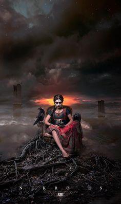Kali by NekroXIII More concept art here. Indian Women Painting, Indian Art, Indian Gods, Dark Fantasy Art, Dark Art, Mother Kali, Durga Images, Maa Kali Images, Kali Mata