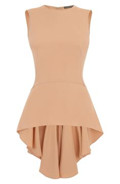 Alexander McQueen Blush Drape Silk Peplum Top  I think BURDASTYLE has a pattern close to this top.