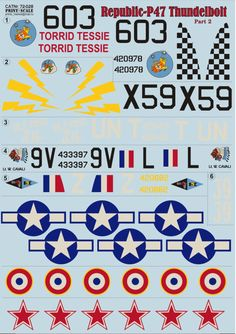 P 47 Thunderbolt, Prints, Decals, Planes, Tags, Sticker, Decal