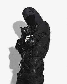 Cyberpunk Clothes, Cyberpunk Fashion, Apocalypse, Black Outfit Men, Brazilian Men, Tactical Wear, Badass Aesthetic, Anime Poses Reference, Dark Fantasy Art