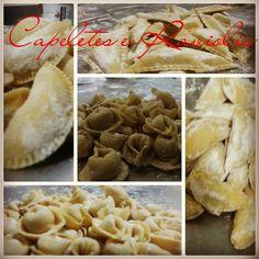Hoje a produção foi de Capeletes e Ravioles ! Uma delícia !  #massas #gourmet #massafresca #massaartesanal #raviole #Capelete #chefe #receita #cozinhaitaliana #Brasília #macaroni #macarrao by fattoincasadf