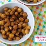 Healthy Snack: Roasted Chickpeas 4 ways via @Modern Parents Messy Kids