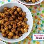 Healthy Snack: Roasted Chickpeas 4 ways via @Modern Parents Messy Kids