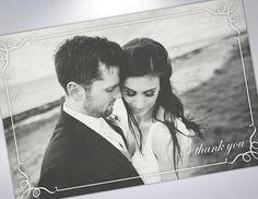 Vintage Thank You Postcards  Wedding Thank You Note  Custom