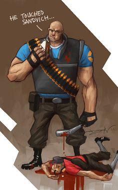 Heavy vs. Scout - Team Fortress 2 - Daniel Kho