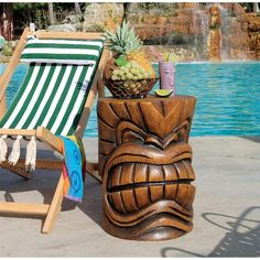 Woodworking Projects For Mom Design Toscano The Kanaloa (Teeth) Grand Tiki in. H Sculptural Polyresin Outdoor Side Table.Woodworking Projects For Mom Design Toscano The Kanaloa (Teeth) Grand Tiki in. H Sculptural Polyresin Outdoor Side Table Tiki Statues, Outdoor Statues, Garden Statues, Tiki Decor, Outdoor Decor, Outdoor Living, Outdoor Tiki Bar, Indoor Outdoor, Tiki Head