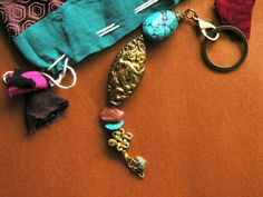 Unique Keychain Sunstone Turquoise Good Fortune by MinedStars