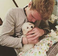 Steve & his puppy Bowie. So Much Love, My Love, Words To Describe, Pictures Of You, Bowie, December, Singer, Puppies, Band