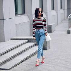 Новенькое в блоге жду вас! New blog post! Link in bio! #stripes…
