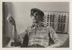"David Bowie at Hansa Studios, Berlin during the recording of his album ""Heroes"", 1977"