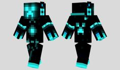 Tron Creeper Skin para Minecraft