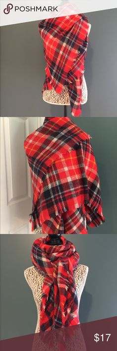 Aerie scarf/wrap. Multi color red scarf/wrap from aerie. Excellent condition. aerie Accessories Scarves & Wraps