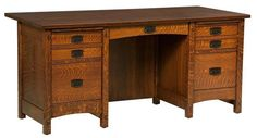 You'll save on every piece of furniture at Amish Outlet Store! get the Signature Mission Secretary Desk in any wood and stain. Woodworking Desk Plans, Woodworking Projects That Sell, Woodworking Joints, Woodworking Videos, Woodworking Classes, Youtube Woodworking, Woodworking Logo, Workbench Plans, Woodworking Machinery