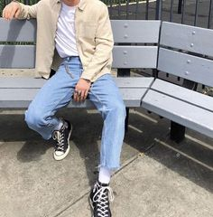Tumblr Outfits, Indie Outfits, Fashion Outfits, Teen Guy Fashion, Guy Outfits, Vintage Outfits, Retro Outfits, Stylish Mens Outfits, Cute Casual Outfits