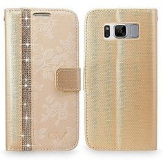 Samsung Galaxy Plus Luxury Leather Wallet Case With Card Slots Clear Gold for sale online Galaxy S8, Samsung Galaxy, S8 Plus, Leather Wallet, Wallets, Phone Cases, Luxury, Garden, Gold