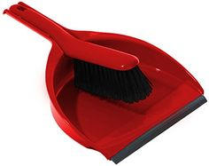 Cleenol 191223 Plastic Dustpan and Brush - Red