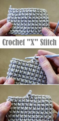 CROCHET X STITCH TUTORIAL - Sewing basics - You are in the right place about Knitting Techniques sleeve Here we offer you the most beautiful pictures abo Crochet Simple, Free Crochet, Knit Crochet, Crochet Sheep, Crocheted Hats, Knit Hats, Tunisian Crochet, Crochet Granny, Crotchet