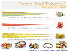 PaperVine: Paper Bead Tutorial - SUMMER FUN!