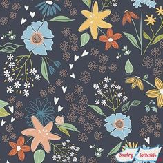Summer Breeze Main Navy fabric by Deane Beesely for Sweet Bee Designs