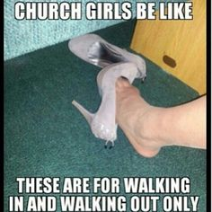 hahaha sometimes they're for walking in only, because there's a lovely pair of flipflops/flats in my purse! :P