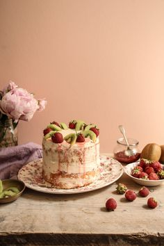 strawberry and kiwi cake recipe