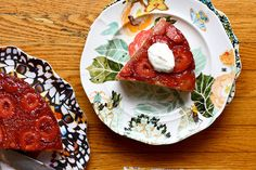 STRAWBERRY UPSIDE-DOWN CAKE.