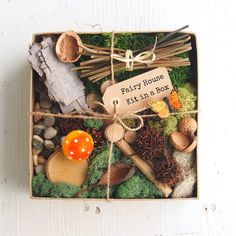 Fairy House Kit, Natural Fairy Garden Diy Gnome Home Nature All Natural Eco…