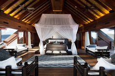 Necker Island Exclusive | Luxury Retreat.  No glass windows in most of the buildings.  Just Ocean's Breezes.
