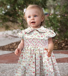 Dani Hand Smocked Dress, very similar to the Laura Ashley Style.  Fully Lined.