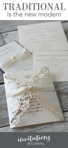 Are you surprised? So were we! But there is no mistaking that traditional wedding invitations are selling like hot cakes. You might have thought that simple, minimal wedding invitations with beautifully formatted copy and a few (or no) design elements are modern but it's actually a throwback to a much more classic style.