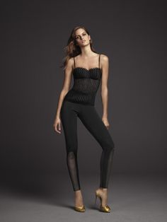 Graphique Couture bustier and Scuba Couture leggings by La Perla.