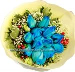 Tagged - My Comments Send Flowers, Blue Roses, Table Arrangements, Online Gifts, Special Occasion, Dark Blue, Bouquet, Brainstorm, Manila