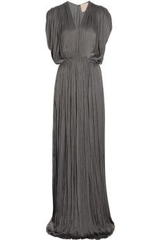 Grey evening gown, simple and classic!