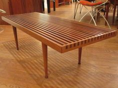 Slat Bench Designed by Mel Smilow. image 5