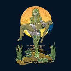 She Creature from the Black Lagoon. Very original gift for Creature from the Black Lagoon fans. Design available in tshirts and other apparen for men, women and children. (just click the image)