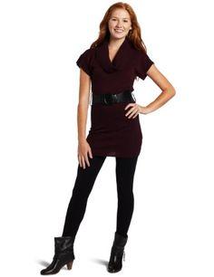 A. Byer Juniors Marilyn Short Sleeve Marled Sweater Dress, Cranberry, Medium A. Byer http://www.amazon.com/dp/B005FOCA9A/ref=cm_sw_r_pi_dp_4BUQtb0BE3FB99MX