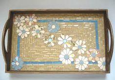 Resultado de imagem para bandeja em mosaico