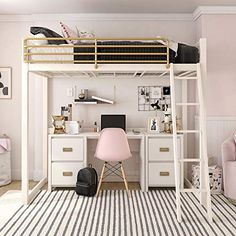 dream rooms for adults ; dream rooms for women ; dream rooms for couples ; dream rooms for adults bedrooms ; dream rooms for girls teenagers Cute Bedroom Ideas, Cute Room Decor, Room Ideas Bedroom, Girl Bedroom Designs, Wall Decor, Loft Bed Room Ideas, Space Saving Bedroom, Awesome Bedrooms, Bunk Bed Designs