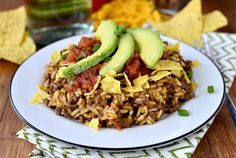Homemade Crunchy Taco Hamburger Helper is hearty yet much healthier than the boxed version. Plus it's made in just 1 skillet and ready in 30 minutes. | iowagirleats.com
